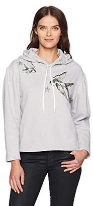 Rebecca Taylor Women's Embroidered Hoodie Pullover