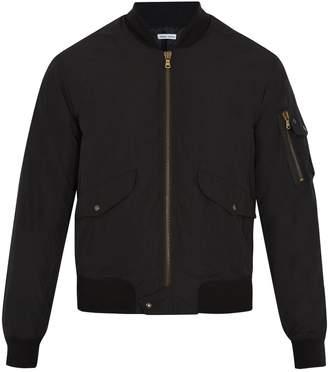 Tomas Maier Ribbed-hem padded bomber jacket