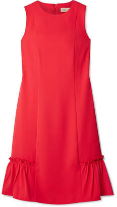 MICHAEL Michael Kors Ruffle-trimmed Crepe Mini Dress - Red