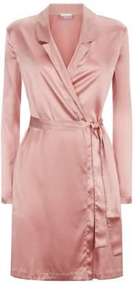 La Perla Silk Reward Powder-Pink Short Silk Robe
