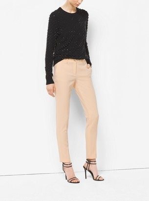 Michael Kors Collection Samantha Wool-Serge Skinny Pants