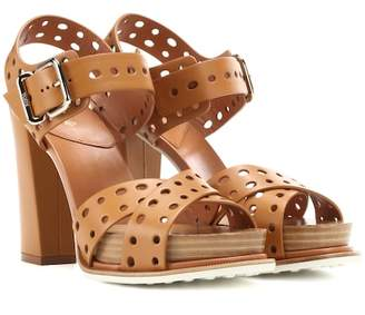 Tod's Leather plateau sandals