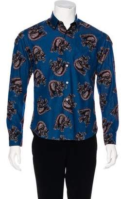 Louis Vuitton 2017 Elephant Print Shirt