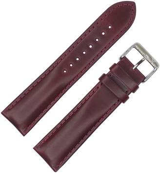 Dakota Men's 11427 (, 20mm, 22mm) Burgundy Oil Tanned Padded Watch Band