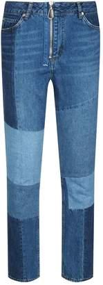 Sandro Skinny Patchwork Jeans
