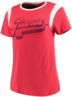 Retro Sport Unbranded Women's Junk Food Red/White New York Giants T-Shirt