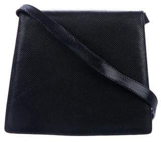 Salvatore Ferragamo Textured Leather Flap Bag
