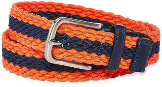 Izod Navy/Orange Stripe Stretch Web Belt - Boys 4-20