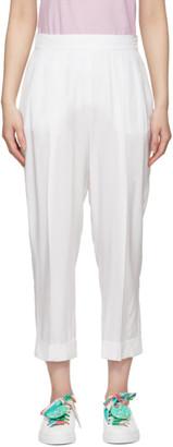 Emilio Pucci White Cropped Trousers