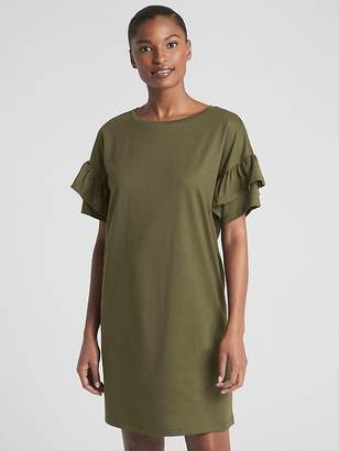 Gap Ruffle Sleeve T-Shirt Dress