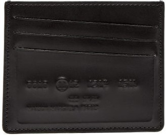 Maison Margiela Logo Embossed Leather Cardholder - Mens - Black Multi