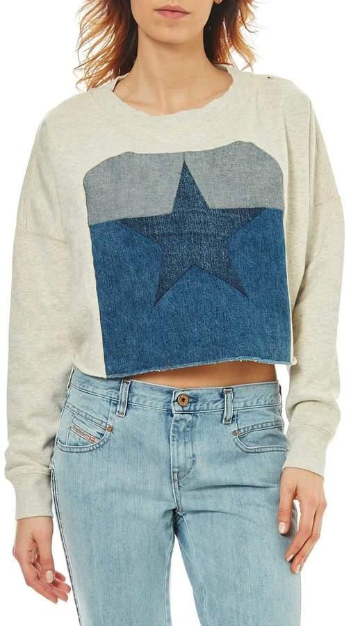 Sweatshirt - zweifarbig