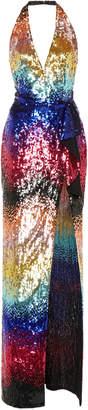 Zuhair Murad Multi-Tone Sequin-Embellished Maxi Dress Size: 32