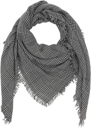 Faliero Sarti PRINCE OF WALES CASHMERE & WOOL SCARF