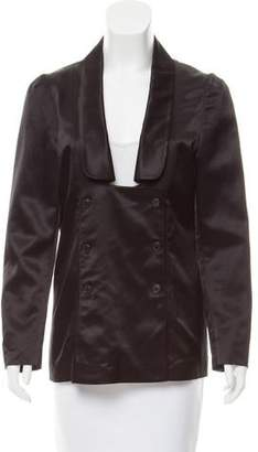Dries Van Noten Double-Breasted Satin Blazer