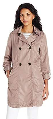 T Tahari Women's Mason Lightweight Double Breastd Coat