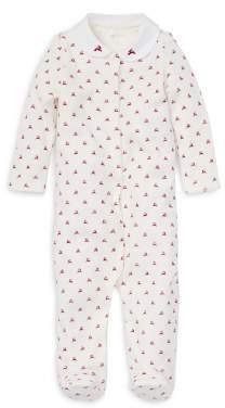 Ralph Lauren Girls' Velour Reindeer-Print Footie - Baby