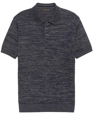 Banana Republic Cotton-Linen Two-Tone Sweater Polo
