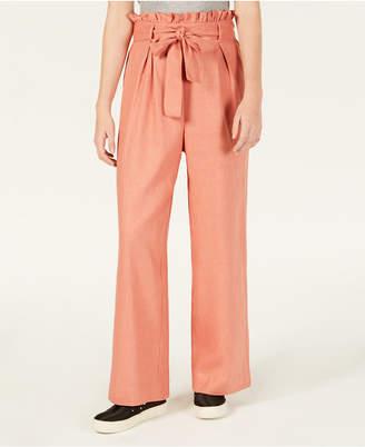 Material Girl Juniors' Tie-Waist Palazzo Pants, Created for Macy's