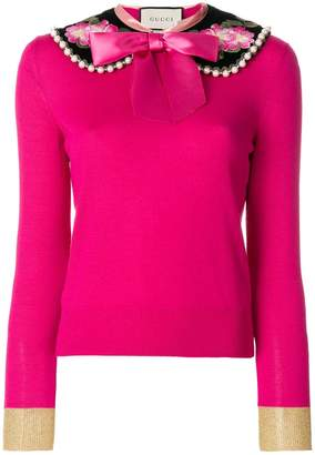 Gucci Peter pan collar cashmere sweater