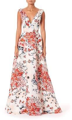 Carolina Herrera Sleeveless V-Neck A-Line Gown