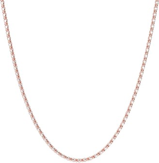 Diamonique Caged Tennis Necklace, Sterling or 14K Clad
