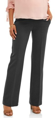 Oh! Mamma Maternity Demi-Panel Flared-Leg Career Pants -- Available in Plus Sizes