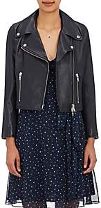 Barneys New York XO Jennifer Meyer Women's Crop Moto Jacket - Midnight
