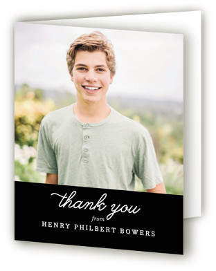 Fun Facts Graduation Announcement Thank You Cards