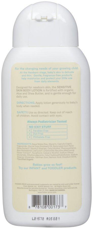 Fisher-Price Sensitive Skin Body Lotion for Newborn - Fragrance Free - 8 oz