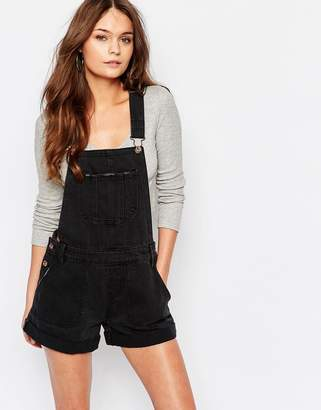 New Look Denim Dungaree Playsuit