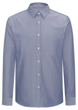 HUGO Boss Herringbone Dress Shirt, Extra Slim Fit Elisha 15 Dark Blue