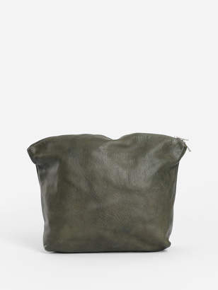 Guidi WOMEN'S GREEN SOFT HORSE FULL GRAIN BEAUTYCASE POUCH