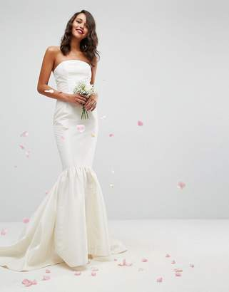Asos Edition BRIDAL Trumpet Hem Maxi Dress