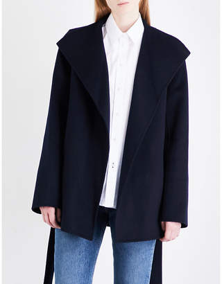 e9ed40d5e9f Joseph Ladies Navy Luxury Lima Wool And Cashmere-Blend Cropped Coat