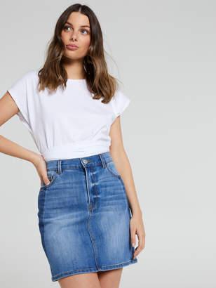 Portmans Australia Two Tone Denim Mini Skirt