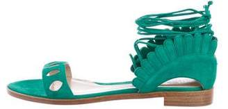 Paula Cademartori Suede Cutout Sandals