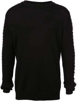 Balmain rough knit jumper
