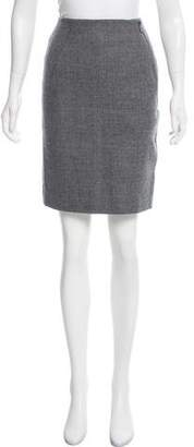 Akris Punto Wool Knee-Length Skirt