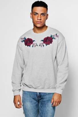 boohoo Floral Yoke Print Sweater