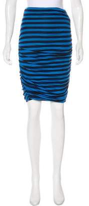 A.L.C. Knee-Length Striped Skirt