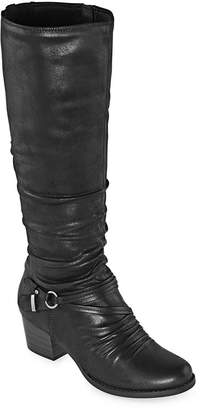 Yuu Womens Ryley Stacked Heel Riding Boots