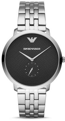 Emporio Armani Stainless Steel Single Sub-Dial Watch, 42mm