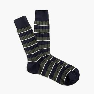 J.Crew Ribbed dress socks in stripe