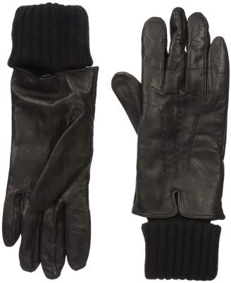 Soia & Kyo SoiaKyo Soia and Kyo Women's Carmel-F6 Leather Glove with Fold-Over Rib Knit Sleeve