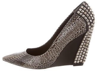 Rachel Roy Embossed Pointed-Toe Wedges w/ Tags $150 thestylecure.com