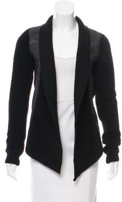 Ohne Titel Leather and Wool Jacket