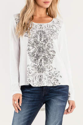 Miss Me Lace-Up Graphic Baseball-Tee