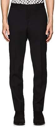 Saint Laurent Men's Satin-Striped Wool Tuxedo Trousers