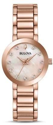 Bulova Modern Diamond Dial Watch, 30mm